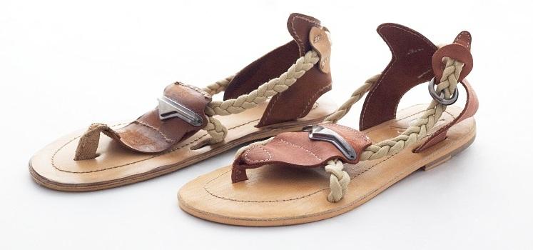 el yapımı sandalet özgün kemer sandalet
